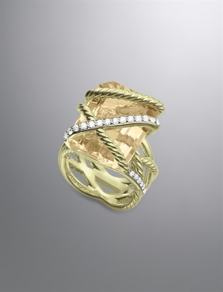 David Yurman Cable Wrap Ring with Champagne Citrine