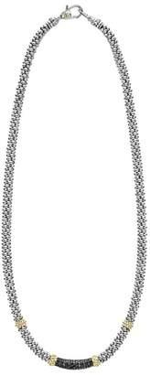 Lagos Diamond Lux Black Diamond Center Station Necklace