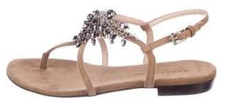 Barbara Bui Suede Embellished Sandals