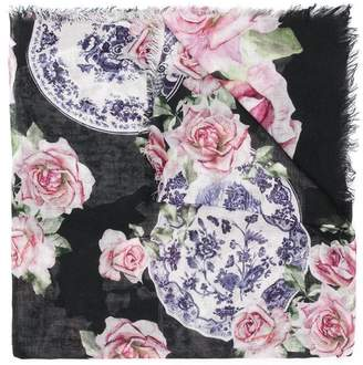 MonnaLisa floral print scarf