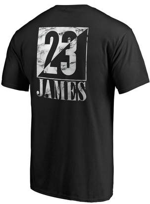 Nba Men's Los Angeles Lakers Lebron James Name & Number Block Graphic Tee