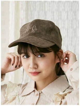 merry jenny (メリー ジェニー) - merry jenny teddy刺繍cap メリージェニー 帽子/ヘア小物