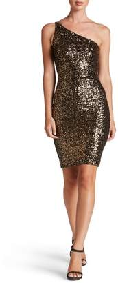 Dress the Population Cher One-Shoulder Sequin Body-Con Dress