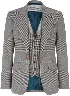 Vivienne Westwood Patchwork Houndstooth Waistcoat Jacket