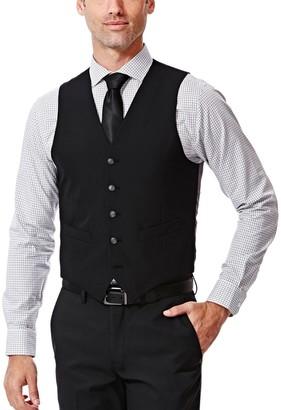 Haggar Men's Slim-Fit Black Suit Vest