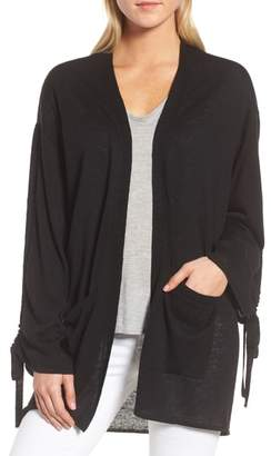 Trouve Ruched Sleeve Cardigan