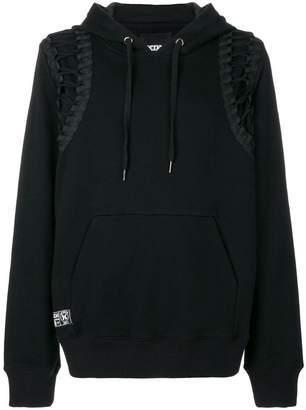 Kokon To Zai lace-up hoodie