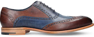 Barker Valiant two-tone brogue leather oxford shoes