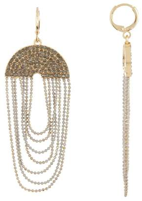 Jessica Simpson Pave Top Chained Dangle Earrings