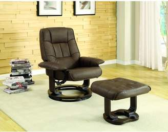 Furniture of America Seymour Contemporary Chair and Ottoman Set, Multiple Colors