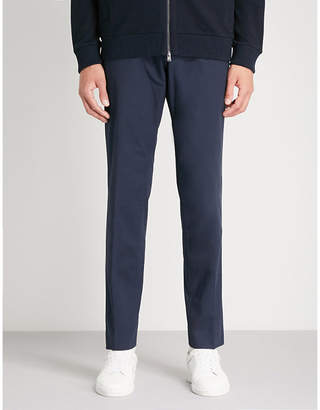 BOSS Regular-fit tapered stretch-cotton trousers