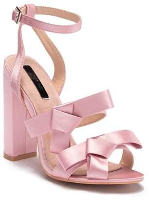 2a16e4e57f2 Lost Ink Leah Double Bow Block Heel Sandal