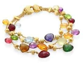 Marco Bicego Paradise Semi-Precious Multi-Stone Three-Strand Bracelet