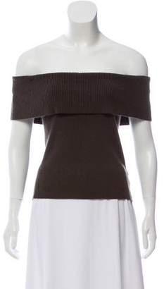 Celine Rib Knit Off-the-Shoulder Top