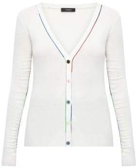 Theory Multicolored Linked Wool Cardigan