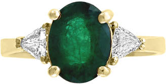 Effy Gemstone Bridal by Emerald (1-1/2 ct.t.w.) & Diamond (1/4 ct. t.w.) Ring in 18k Gold