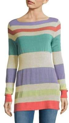 Autumn Cashmere Striped Boatneck Sweater
