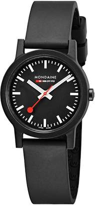 Mondaine Women's 'SBB' Swiss Quartz Stainless Steel and Leather Casual Watch, Color (Model: MS1.32120.RB)