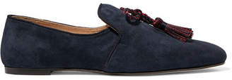 J.Crew Tasseled Suede Loafers - Navy