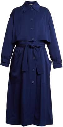 Stella McCartney Caban elasticated-waist crepe trench coat