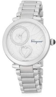 Salvatore Ferragamo Cuore Stainless Steel Bracelet Watch