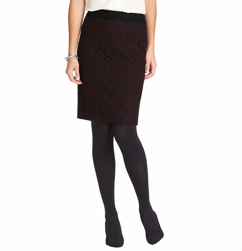 LOFT Lace Pencil Skirt