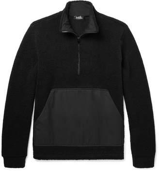 A.P.C. Summit Textured Wool-blend Half-zip Sweater