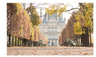 Pottery Barn A Stroll Through The Tuileries In Autumn by Rebecca Plotnick