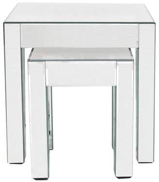 Debenhams RUDDIMANS 'Mirrored' Nest Of 2 Tables