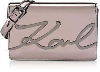 Karl Lagerfeld K/Signature Gloss Shoulder Bag