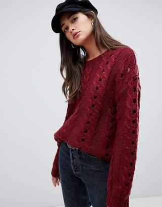Glamorous cabel knit jumper