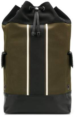 Bottega Veneta stripe detail drawstring backpack
