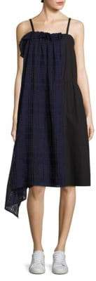 Public School Ema Plaid Overlay Dress