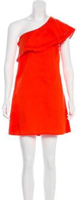 Tory Burch One-Shoulder Mini Dress