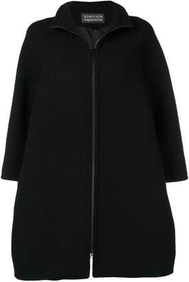 Gianluca Capannolo zip-up flared coat