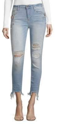 Driftwood Jackie Skinny Pearl Embellished Jeans