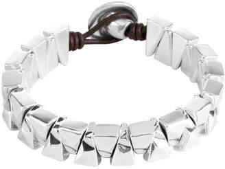 Uno de 50 Sarabi Stacked Geo Beaded Leather Bracelet