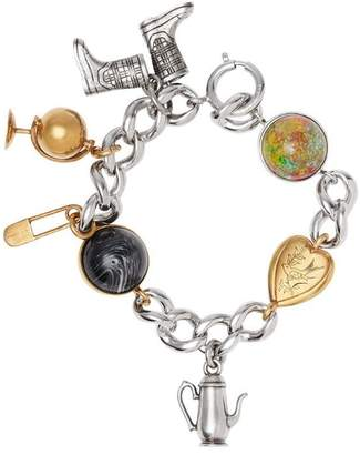 Burberry Marbled Resin Charm Chain Bracelet