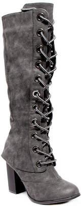 Two Lips Womens Lolly Block Heel Dress Boots
