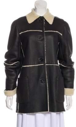 Celine Button-Up Leather Jacket