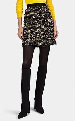 Proenza Schouler Women's Fringed Fil Coupé Miniskirt - Yellow