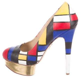 Charlotte Olympia Abstract Painted Pumps