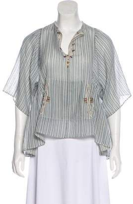 Etoile Isabel Marant Stripe Short Sleeve Top