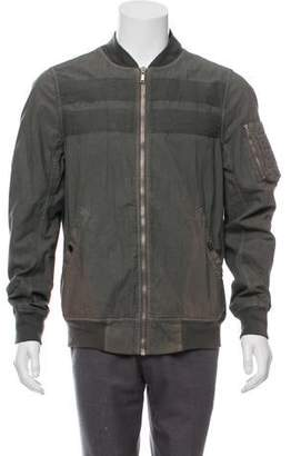 Rick Owens Longline Distressed Bomber Jacket w/ Tags