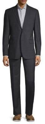 Classic Fit Two-Piece Tonal Plaid Wool Suit