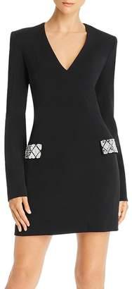 David Koma Embellished-Pocket Mini Dress