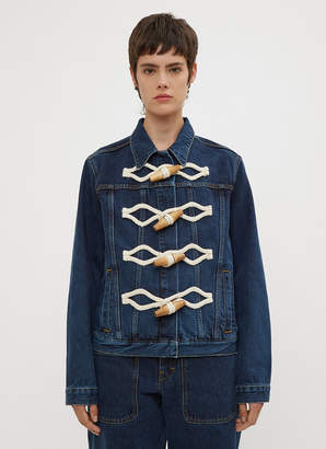J.W.Anderson Oversized Toggle Denim Jacket in Blue