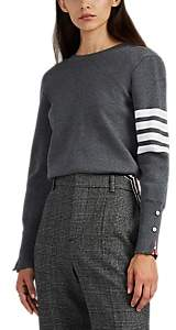 Thom Browne Women's Backward Block-Striped Wool Cardigan - Gray