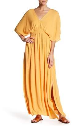 Nina Leonard V-Neck Maxi Dress
