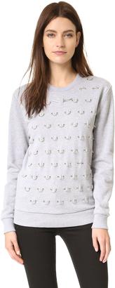 Mugler Sweatshirt with Hardware $595 thestylecure.com